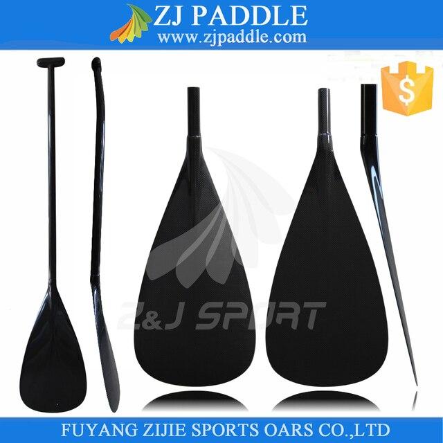ZJ SPORT Lightweight Tahiti Type Carbon Fiber Outrigger Canoe OC Paddle With Prepreg Carbon Oval Bent Shaft