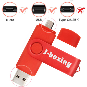 J-boxing Smart Phone USB Flash Drive 32GB Metal Pen Drive OTG External Storage Pendrives 16gb Micro USB Flash Drive Memory Stick