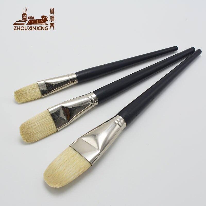 3 uds artesanía cepillo especialmente cerdo grande redondo de cerdas de pico pincel para óleo arte pintura arte suministros de madera cepillo de limpieza