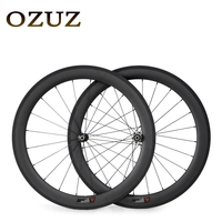 50mm Carbon Straight Pull Hub Wheels Clincher Carbon Road Bike Bicycle Wheel or Wheelset with Powerway R36 Carbon Hub