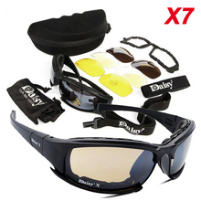 Hot Sale Cycling Glasses X7 Polarized Sport Sunglasses C5 C6 Outdoor Tactical Goggles Shooting Hunting Military Glasses