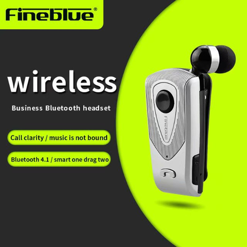 Fineblue F930 Wireless Freedom Business Bluetooth Headset Call Clarity Music No Bound Smart one drag two Bluetooth Earphone