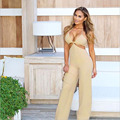 Summer women jumpsuit Women sexy cross back slip bodysuit overall jumpsuit rompers womens jumpsuit