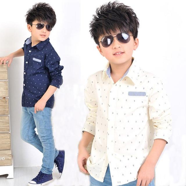 d3dd41868102a 2016 nuevos niños ancla patrón camisas de vestir para niños de moda de la  marca de