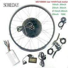 EINES TAGES 48V1000W Elektrische Fahrrad Conversion Kit mit KT LCD3 Display E-bike BLDC Hinten Drehen Hub Motor Rad mit speichen und felge