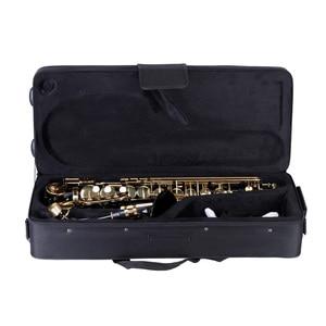 Image 5 - Ammoon Hoogwaardige Messing Gelakt Goud E Altsaxofoon E Platte Sax Gesneden Patroon Houtblazers Instrument Met Draagtas