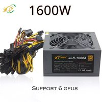 Quite 1600W ATX power supply fan simple mining 8 Sata power Supply for Bitcoin miner video card P106 R580 RX 470 RX480 RX 570