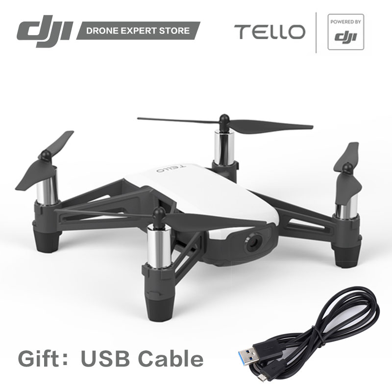DJI RYZE Tello Drone with Camera Powered by DJI Wifi Control 720P Video Shooting Learn About Quadcopter with Coding Education квадрокоптер dji ryze tello с камерой белый