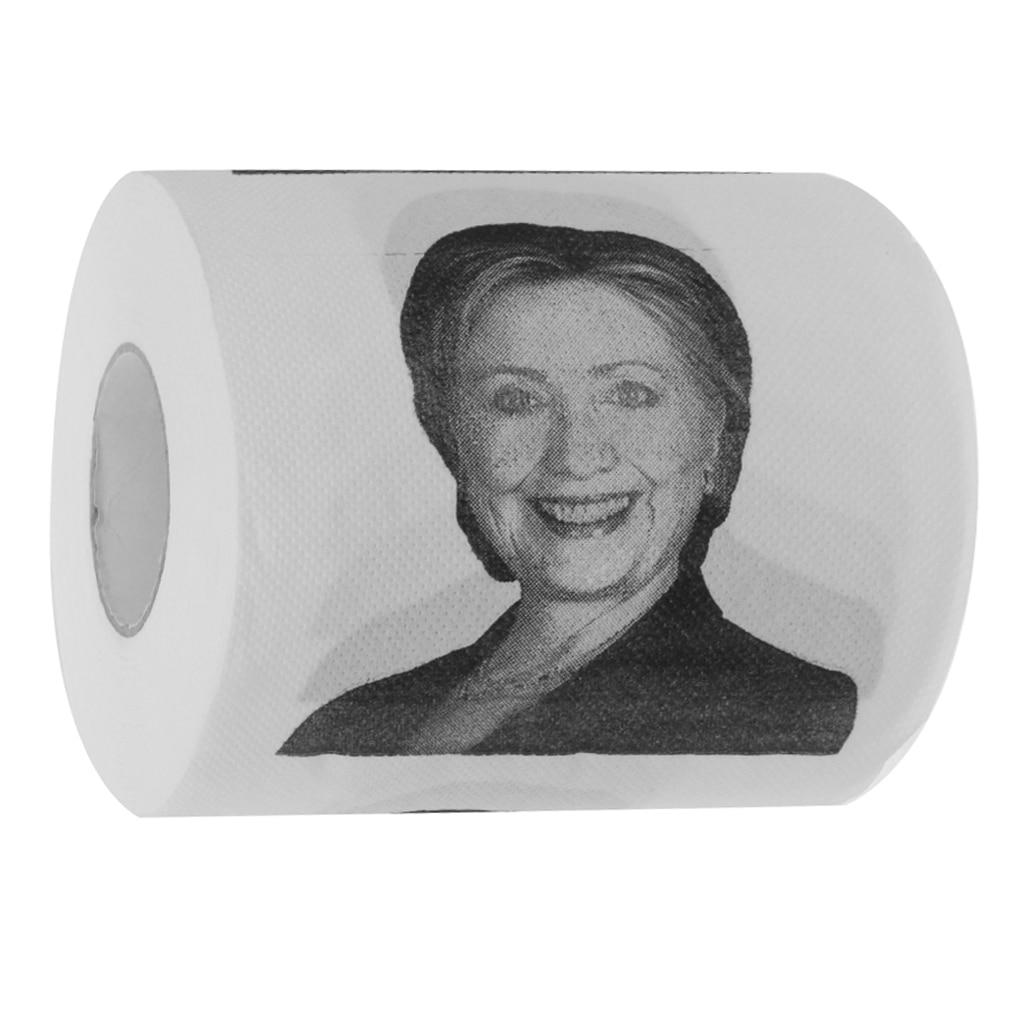 New Hot Nolvety Hillary Clinton Toilet Paper Roll Party Gag Gift Prank Humor Fun Joke DI ...