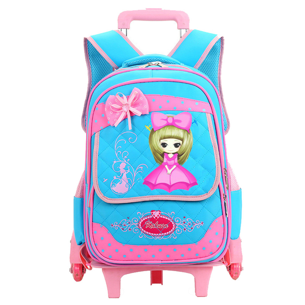 Children School Bags Mochilas Kids Backpacks With Wheel Trolley Luggage For Girls Boys backpack Mochila Infantil Bolsas 3d fantastic animal prints horse unicorn backpacks for teenagers boys girls kids backpack school bags children mochila escolar