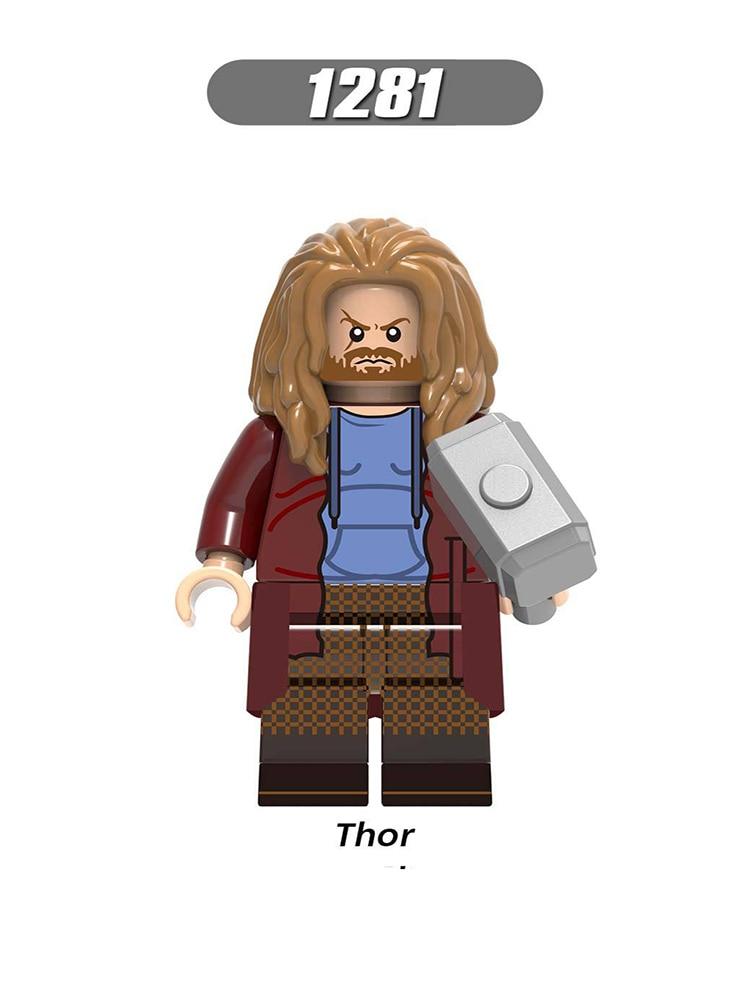 Single Sale LegoINGlys Super Heroes Figures Avengers 4 Endgame Thor Valkyrie Bricks Building Blocks Learning Toys Children Gifts