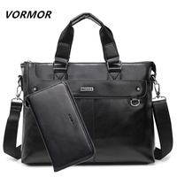 VORMOR 2017 Men Leather Shoulder Bag and Purse Male Casual Business Satchel Messenger Bag Fashion Men's Handbag Bags