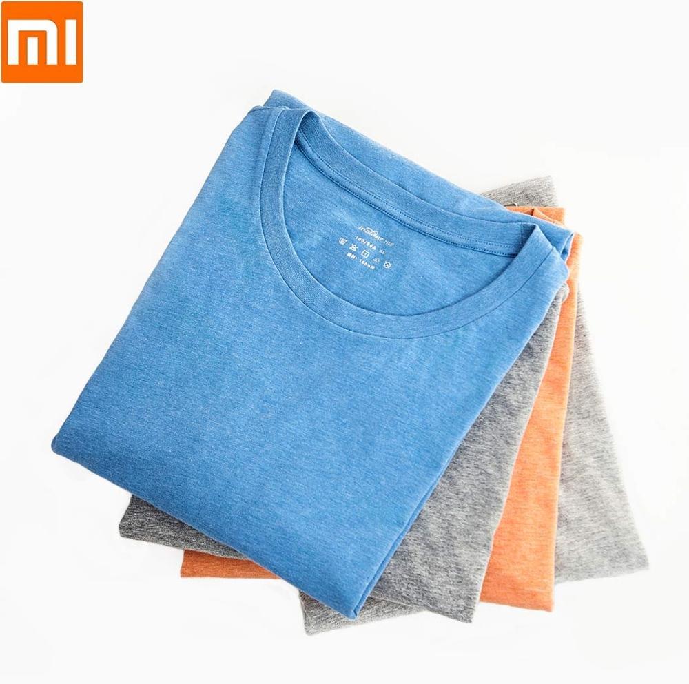 Xiaomi Instant Me Man Short Cotton Sleeve 100% Cotton Simple And Versatile Comfortable Breathable Male Summer Clothes