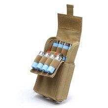 2019 ใหม่อุปกรณ์ล่าสัตว์ยุทธวิธีกระสุนกระเป๋า MOLLE 25 รอบ 12 Gauge Ammo Shells AIRSOFT Reload นิตยสารกระเป๋า