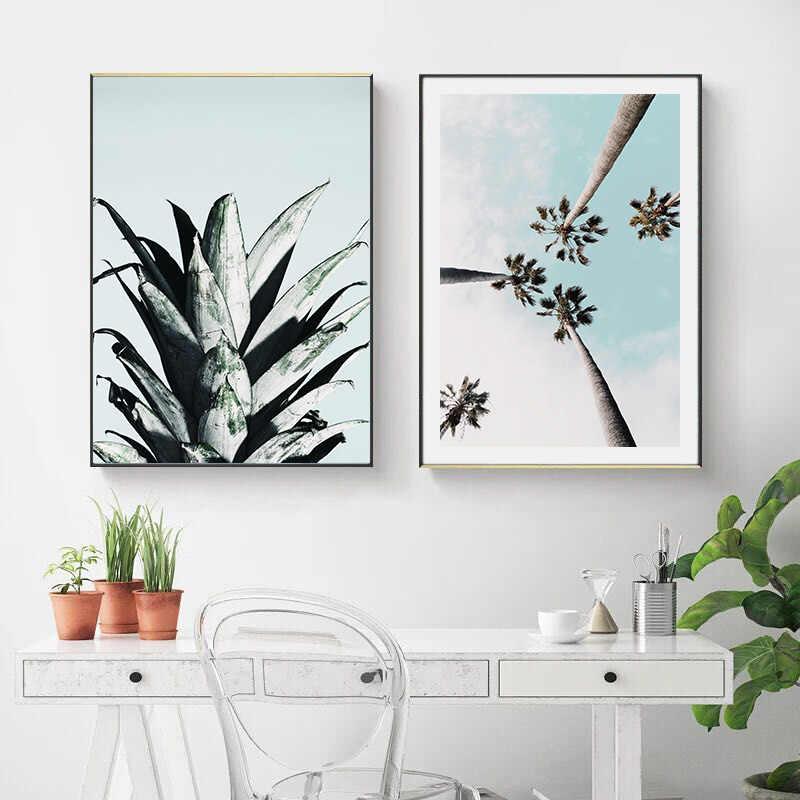 Tropical Ocean Beach Palm Tree Canvas Poster Landscape Wall Art Print Painting Nordic Decoration Picture Scandinavian Home Decor