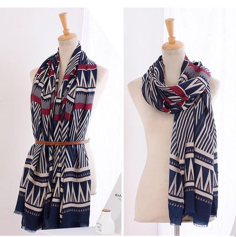 Люксовый бренд шарф женщин 2015, район хлопковый шарф, геометрический принт, полосой печати, бандана, Desigual, платки и шарфы, женские шарфы