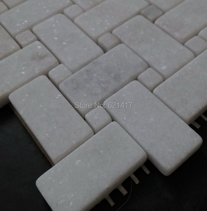 Wall Tiles Natural Jazz White Marble Stone Mosaic Tiles Pattern