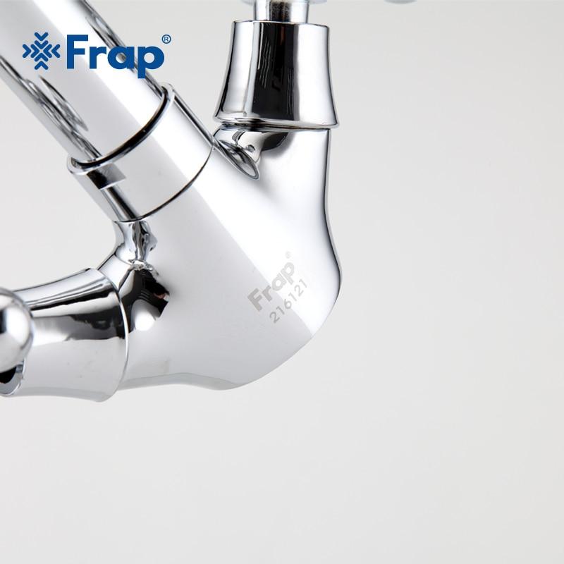 Image 4 - FRAP Silver Bathroom faucet Dual Handle Vessel Sink Mixer Tap Hot and cold separation switch F1319hot and coldsink mixer tapmixer tap -