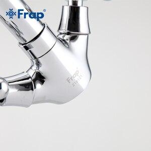 Image 4 - FRAP robinet mitigeur pour évier robinet de salle de bains argenté à double poignée interrupteur de séparation chaude et froide F1319