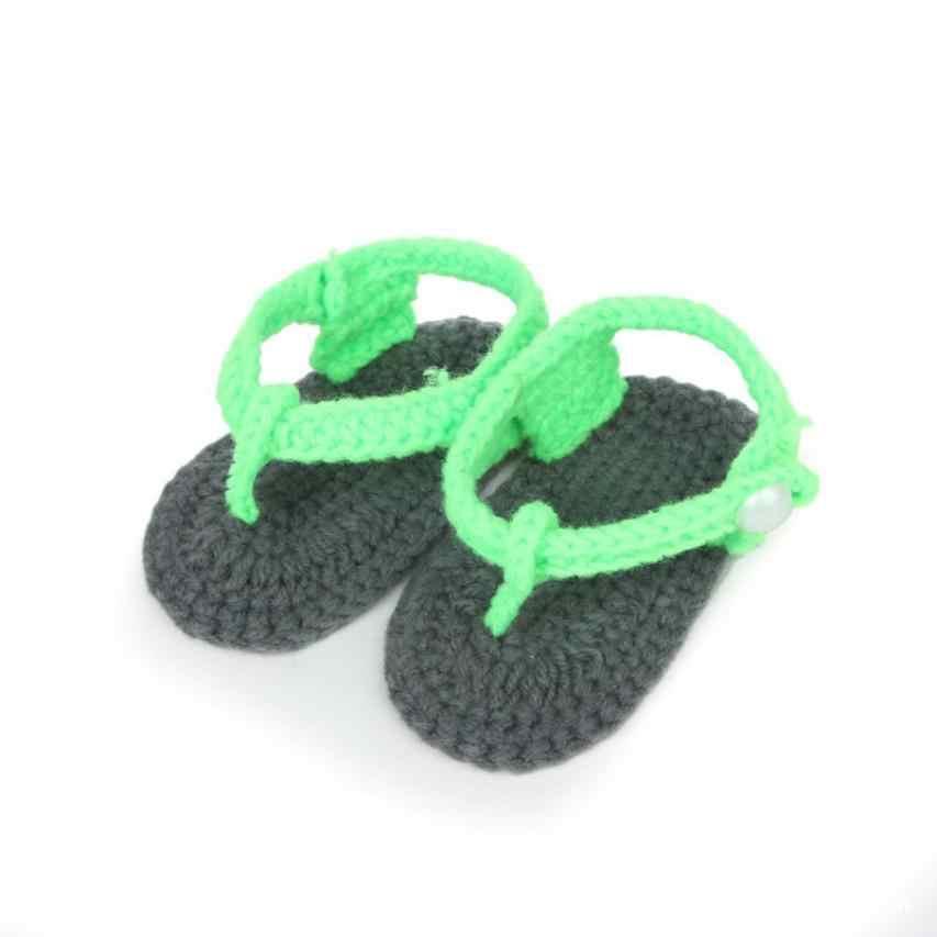 ARLONEET zapatos de bebé niña niño cómodo calcetín de punto hecho a mano Clip dedos Zapatos Infantiles calzado infantil transpirable de lana