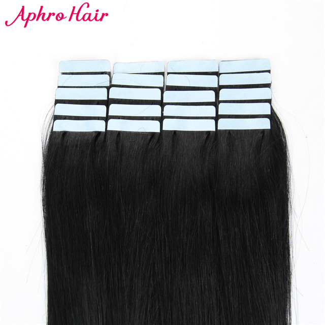 Aliexpress Buy Aphro Hair Tape In Hair Extensions Non Remy 20