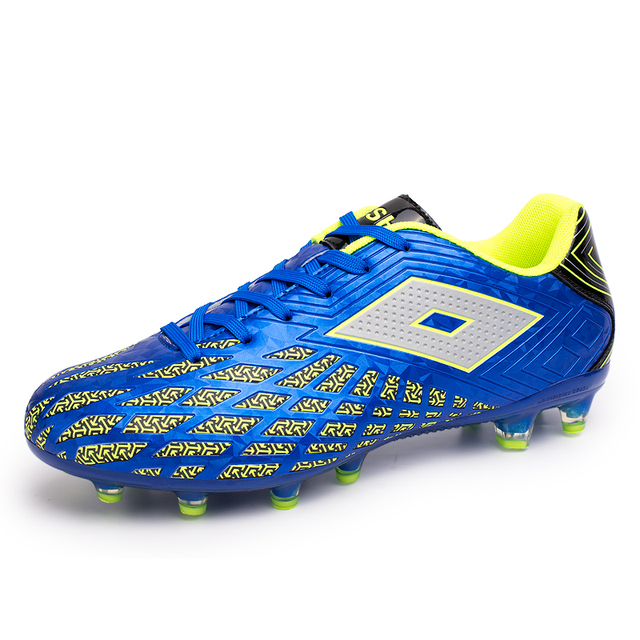 2016 New Mens Sports Shoes Football Leather Best Turf Football Cleats For  Man Blue Red Mens 74784e7e8695