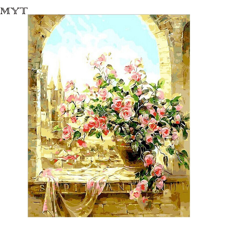 New Arrival Flowers Cheap DIY Painting By Numbers Hand Painted Oil ...