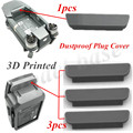 4pcs 3D Printed Dustproof Plug Cover For DJI Mavic PRO frame and Battery (1pcs for frame,3pcs for Battery) Gray