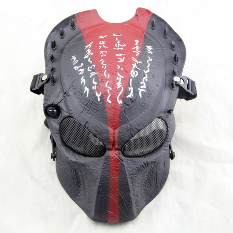 ZJZ04 Tactical Predator Wire Mesh Wolf 2.0 Airsoft Paintball Full Face Mask Military Hunting Wargame Cosplay Halloween Party