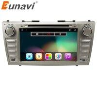 Eunavi 8 بوصة رباعية النواة 2 الدين الروبوت 6.0 سيارة مشغل dvd ستيريو سيارة gps لتويوتا كامري 2006 2007 2008 2009 2011 مع بلوتوث