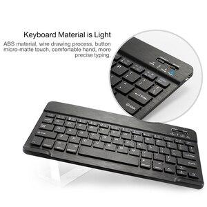 Image 5 - Magnetische abdeckung Für Samsung Galaxy Tab EINE 10,1 zoll 2019 T510 T515 SM T510 SM T515 Drahtlose Bluetooth Tastatur fall Funda + film