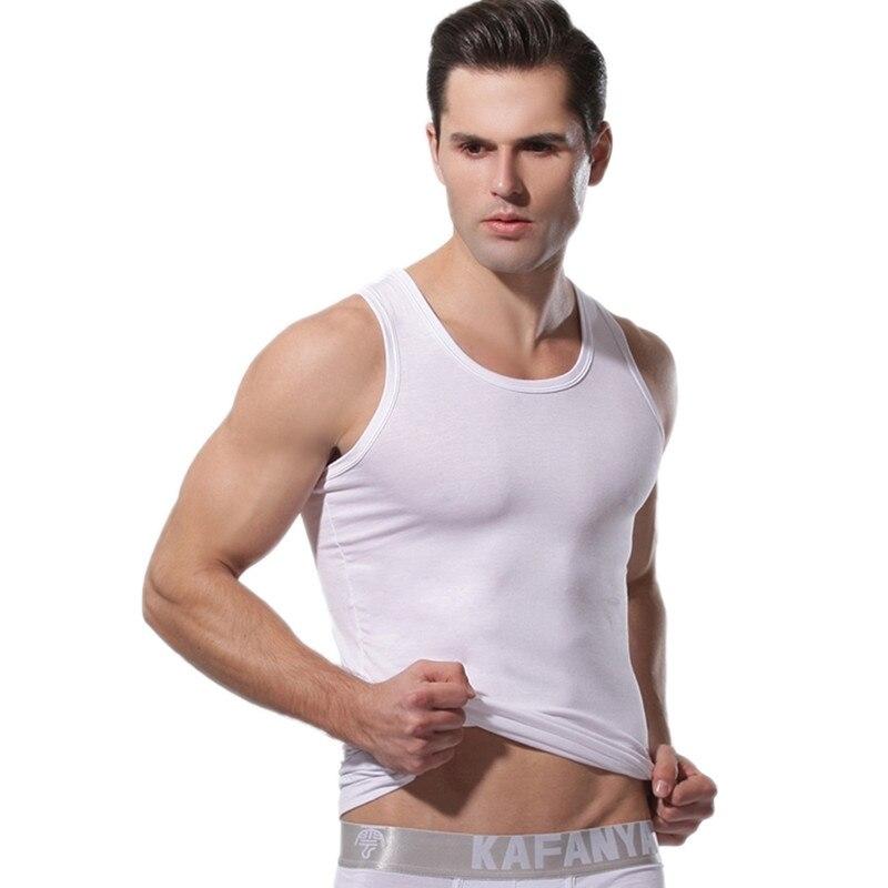 New Summer Men Clothing   Tank     Tops   Man Undershirts Casual Fitness Bodybuilding Vest   Tops   Sous Vetement Homme