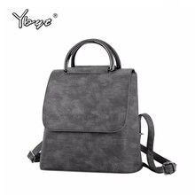 купить YBYT brand 2017 new PU leather women rucksack Multipurpose satchel female shoulder messenger bags ladies casual travel backpacks по цене 960.93 рублей