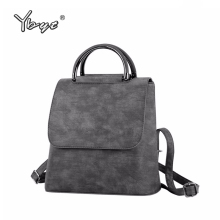 YBYT brand 2019 new PU leather women rucksack Multipurpose satchel female shopping shoulder bags ladies casual travel backpacks