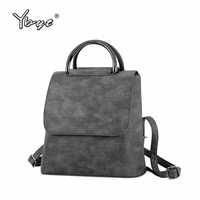 YBYT brand 2019 new PU leather women rucksack Multipurpose satchel female shopping shoulder bags ladies casual travel backpacks