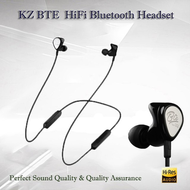 8f6cad4f1c7 KZ BTE Hybrid Wireless Bluetooth Earphone hifi Sport handsfree Earbuds with  mic Fone de ouvido For iPhone Samsung Auriculares