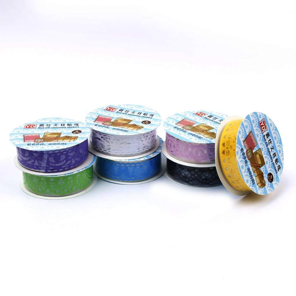 Lace Sticky Paper SELF Adhesive Washi Tape Sticker Scrapbooking Decorative DIY Клейкая лента