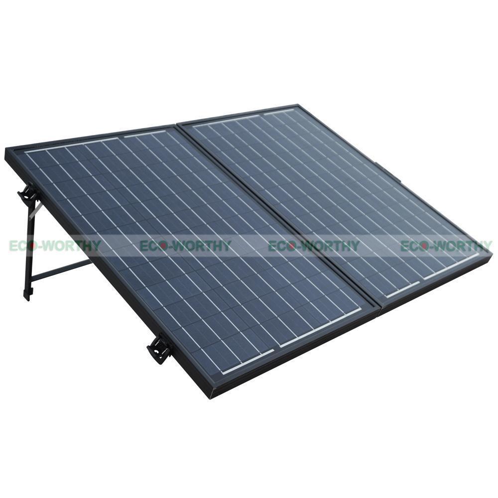 Portable Kit 120 Watt Poly PV Folding Solar Panel 12V RV Boat Off Grid-2x60W Solar Generators 120w 12v pv folding mono solar panel for home outdoor camping hiking rv boat solar generators