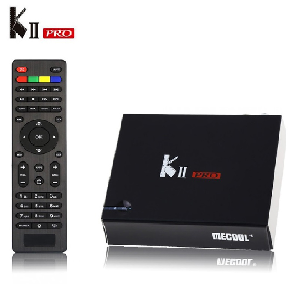 KII PRO decodificador DVB-S2 DVB-T2 Android 7,1 caja de TV inteligente S905d Quad Core 2 GB 16 GB K2 pro 4 K Media player dvb t2 s2 Dual Wifi BT4.0