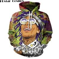 PLstar Cosmos 2017 Autumn Men's Hoodie Wiz Khalifa women hoodies 3D Printed Hoodies Harajuku unisex hoodies Sweatshirts S 5XL