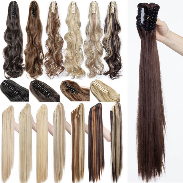 Snoilite 18 26 Inch Synthetic Thick Straight Long Ponytail Hair