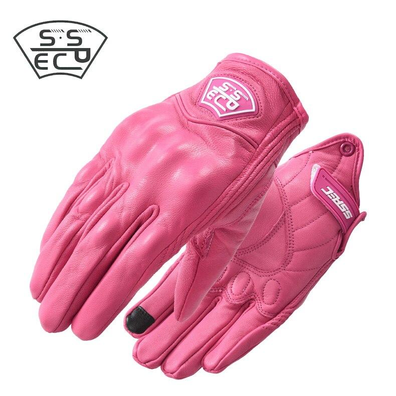 XS S - XL летние Мотоциклетные Перчатки женские розовые мужские перчатки водонепроницаемые мотоцикл мотобайк перчатки без пальцев