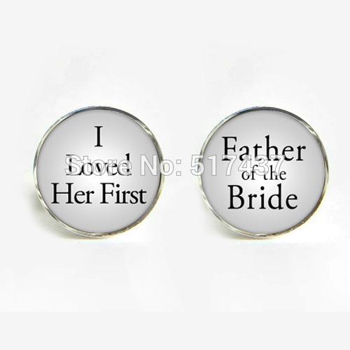 Cuff Link I Father Bride Links Cufflinks Wedding