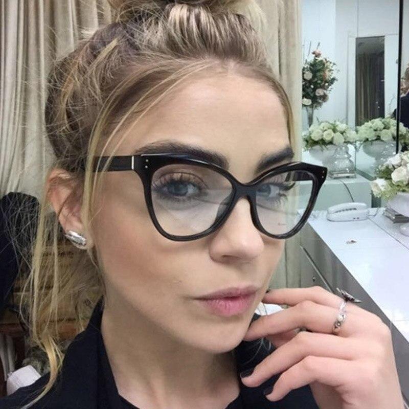 Acetate Optical Eyeglasses Fashion Female Stylish Frame Spectacles for Women Prescription Eyewear Glasses Frame Cat-Eye Style
