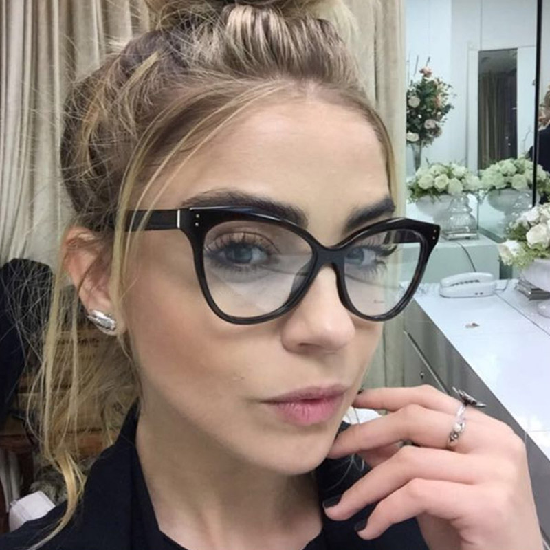 Acetate Optical Eyeglasses Fashion Female Stylish Frame Spectacles for Women Prescription Eyewear Glasses Frame Cat-Eye Style