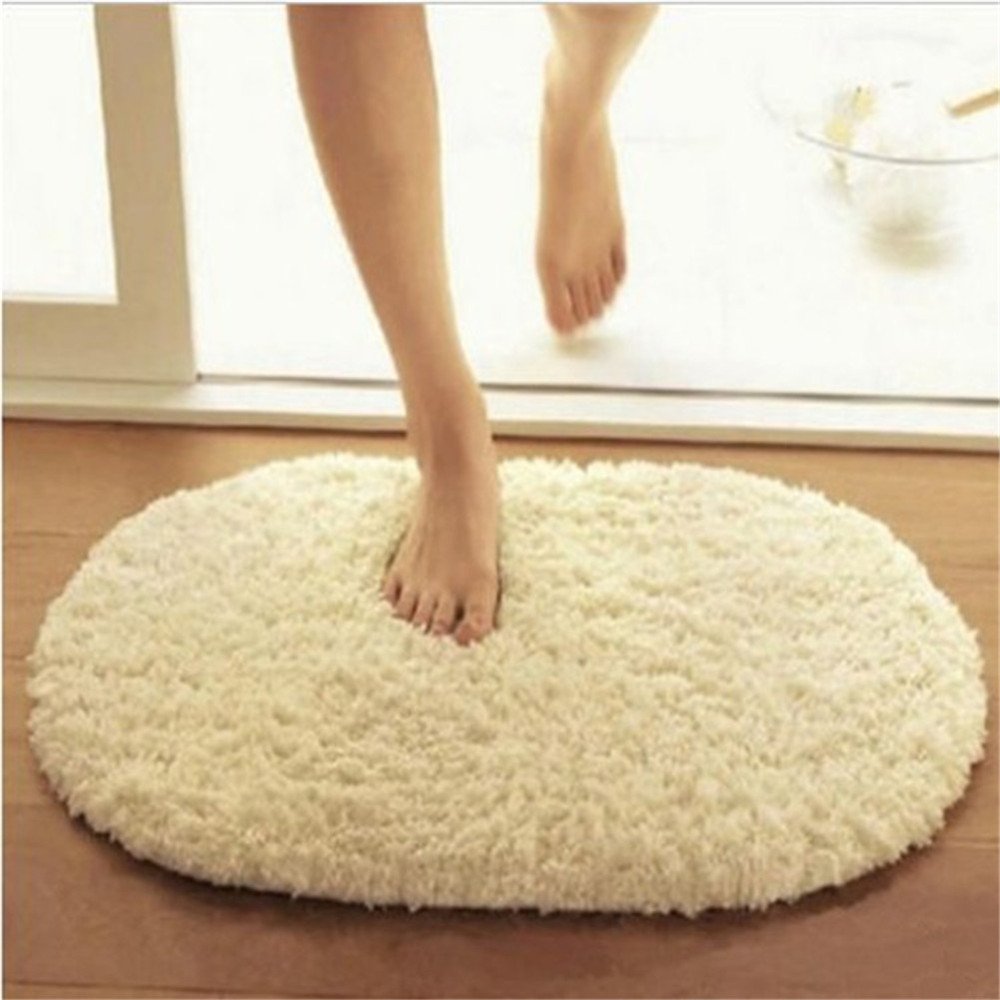 Oval bathroom rug - Hot Sale 40 60cm Bathroom Carpets Absorbent Soft Memory Foam Doormat Floor Rugs Oval Non