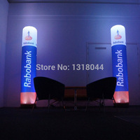 Custom 8ft durable oxford fabric digital printing inflatable light pillar for advertising