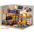 Fashion Wooden Doll House Star Trek DIY Dollhouse Do it Yourself, Funny Miniature House Toys for Children Free Shipping