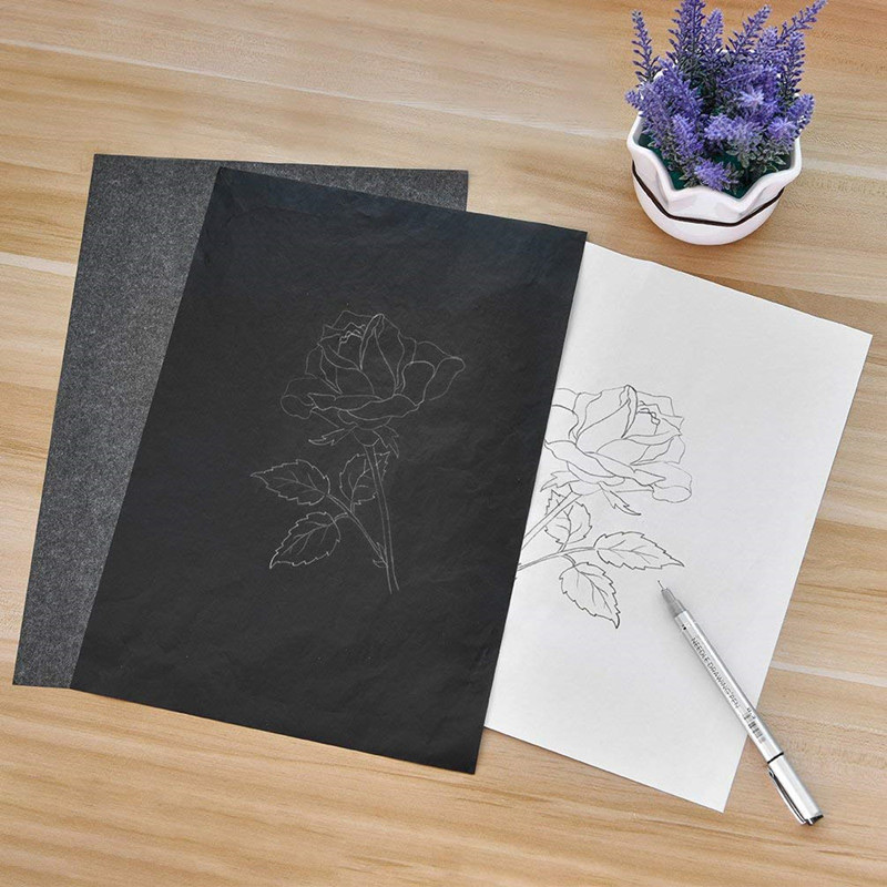 Us 2 95 42 Off 100 Pcs Carbon Paper Transfer Copy Sheets Graphite Tracing A4 For Wood Canvas Art 669 In Party Diy Decorations From Home Garden On