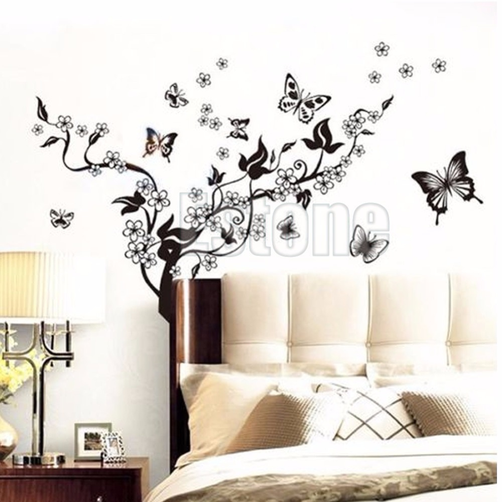 1 Set Butterfly Flower Wall Art Decal Vinyl Stickers Home DIY Decor Mural  Removable In Wall Stickers From Home U0026 Garden On Aliexpress.com | Alibaba  Group